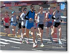 Marathon Runners I Acrylic Print by Clarence Holmes