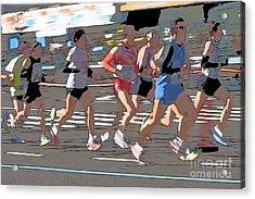 Marathon Runners II Acrylic Print