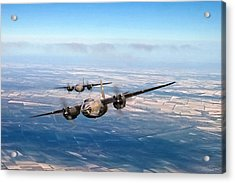Marauder Twoship Acrylic Print by Peter Chilelli