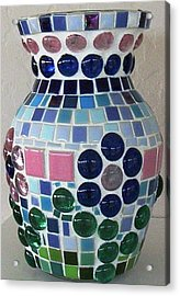 Acrylic Print featuring the glass art Marble Vase by Jamie Frier
