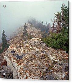 Marble View Fog-sq Acrylic Print