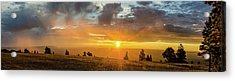 Marble View Sunrays Acrylic Print