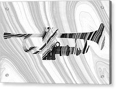 Marbled Music Art - Trumpet - Sharon Cummings Acrylic Print by Sharon Cummings