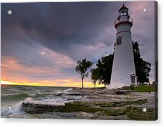 Marblehead Lighthouse At Sunrise Acrylic Print