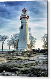 Acrylic Print featuring the painting Marblehead Lighthouse by Christopher Arndt