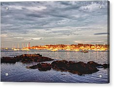Acrylic Print featuring the photograph Marblehead Neck From Fort Beach by Jeff Folger
