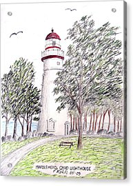 Marblehead Ohio Lighthouse  Acrylic Print by Frederic Kohli