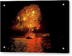 Acrylic Print featuring the photograph Marblehead Fireworks by Jeff Folger