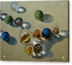 Marbles Acrylic Print by Doug Strickland