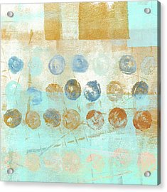 Acrylic Print featuring the mixed media Marbles Found Number 1 by Carol Leigh