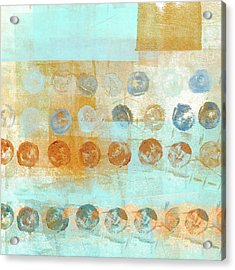 Acrylic Print featuring the mixed media Marbles Found Number 2 by Carol Leigh