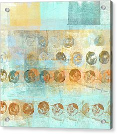 Acrylic Print featuring the mixed media Marbles Found Number 3 by Carol Leigh