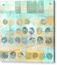 Acrylic Print featuring the mixed media Marbles Found Number 4 by Carol Leigh