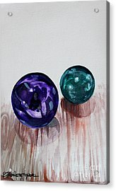 Marbles Of My Reflection Acrylic Print by Elizabeth Robinette Tyndall