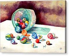 Marbles Acrylic Print by Sam Sidders