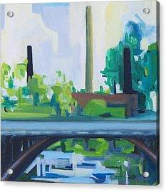 Marcal Rt. 46 Bridge Acrylic Print by Ron Erickson