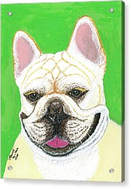 Acrylic Print featuring the painting Marcel French Bulldog by Ania M Milo