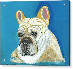 Acrylic Print featuring the painting Marcel II French Bulldog by Ania M Milo
