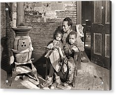 March 1937 Scott's Run, West Virginia Johnson Family. Acrylic Print