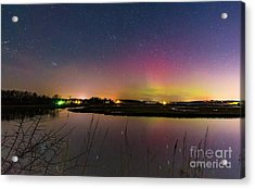 March 6 Aurora Over Scarborough Marsh  Acrylic Print