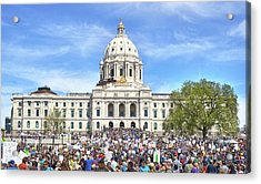 March For Science  Minnesota 2017 Acrylic Print by Jim Hughes