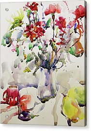 March Greeting Acrylic Print by Becky Kim