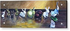 March Hares Acrylic Print by Jane Loveall