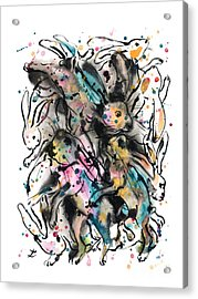 March Hares Acrylic Print