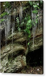 Acrylic Print featuring the photograph March Icicles 2 by Mike Eingle
