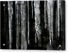 Acrylic Print featuring the photograph March Icicles by Mike Eingle