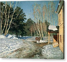 March Acrylic Print by Isaak Ilyich Levitan