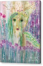 Acrylic Print featuring the painting March by Julie Engelhardt
