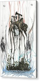 March Of The Bison Acrylic Print