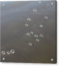 March Of The Bubbles Acrylic Print by Marie Neder