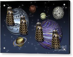 March Of The Daleks Acrylic Print by Steve Purnell