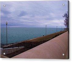 March On Lake Michigan Acrylic Print by Anna Villarreal Garbis