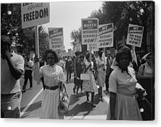 March On Washington. African Americans Acrylic Print