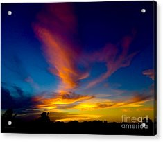 Sunset March 31, 2018 Acrylic Print