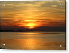 March Sunset Acrylic Print