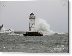 March Winds And Waves Acrylic Print by Sandra Updyke