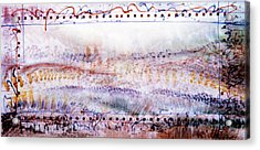 Marching In The Meadow Acrylic Print by Tom Hefko