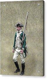 Marching Loyalist Soldier Revolutionary War Acrylic Print by Randy Steele