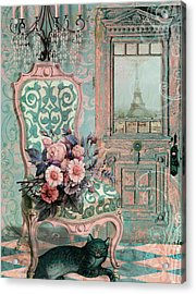 Marcie In Paris Acrylic Print by Mindy Sommers