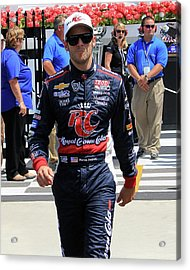 Marco Andretti - 2 Acrylic Print by Mark A Brown