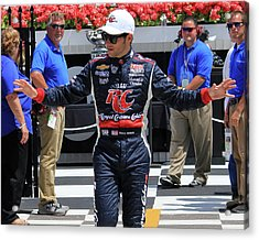 Marco Andretti - 3 Acrylic Print by Mark A Brown
