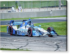 Marco Andretti Acrylic Print by Steven Banker