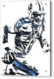 Acrylic Print featuring the mixed media Marcus Mariota Tennesse Titans Pixel Art 2 by Joe Hamilton