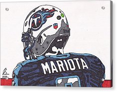 Marcus Mariota Titans 2 Acrylic Print by Jeremiah Colley