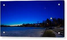 Acrylic Print featuring the photograph Marcy Casino Winter Twilight by Chris Bordeleau