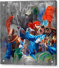 Mardi Gras 242  Acrylic Print by Mawra Tahreem